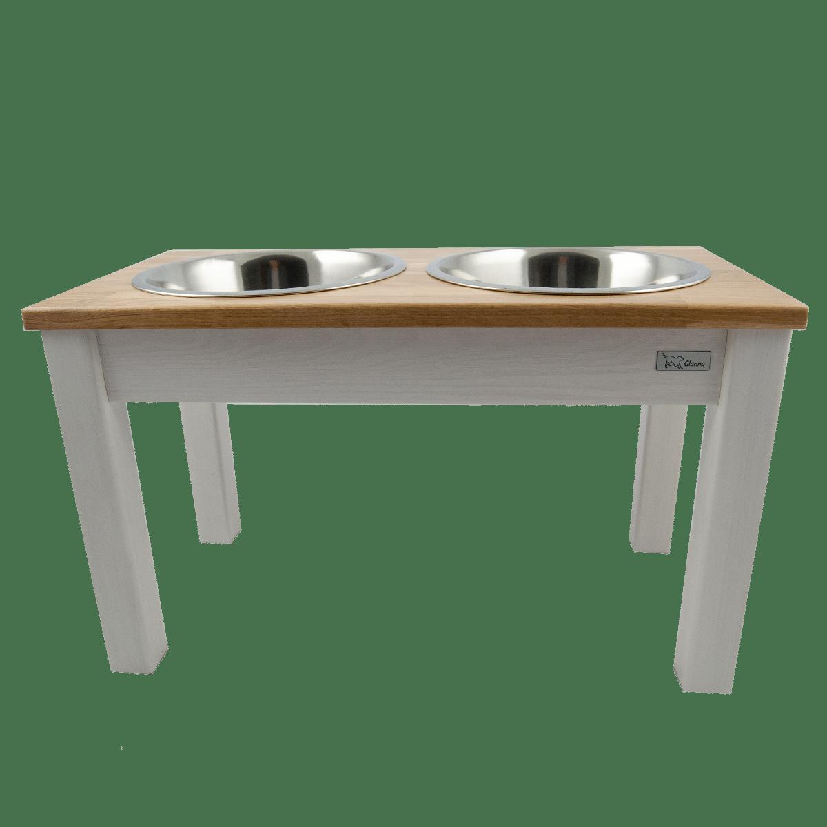 Matbar i trä- vitlaserad med ekskiva