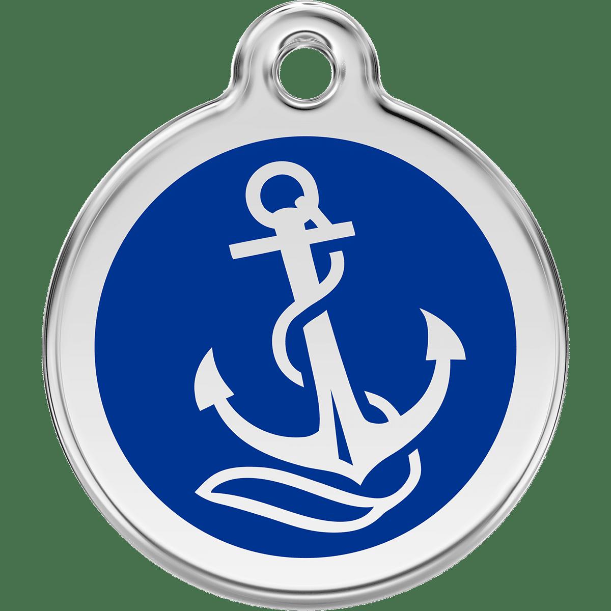 ID-bricka i rostfritt stål till hund eller båtägare
