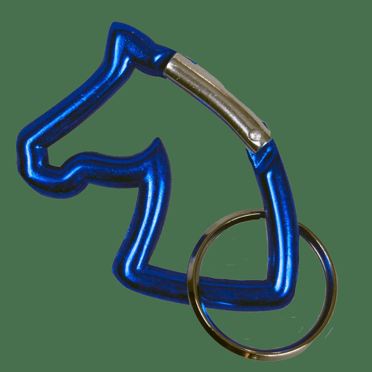 Blå häst-nyckelring