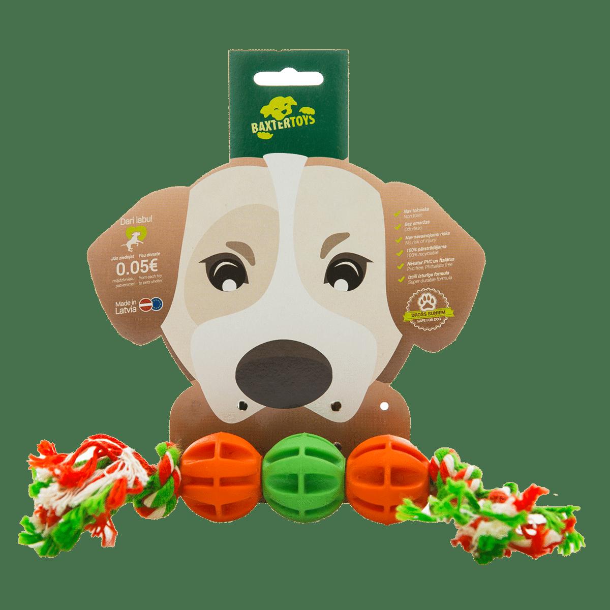 Rep med bollar - hundleksak