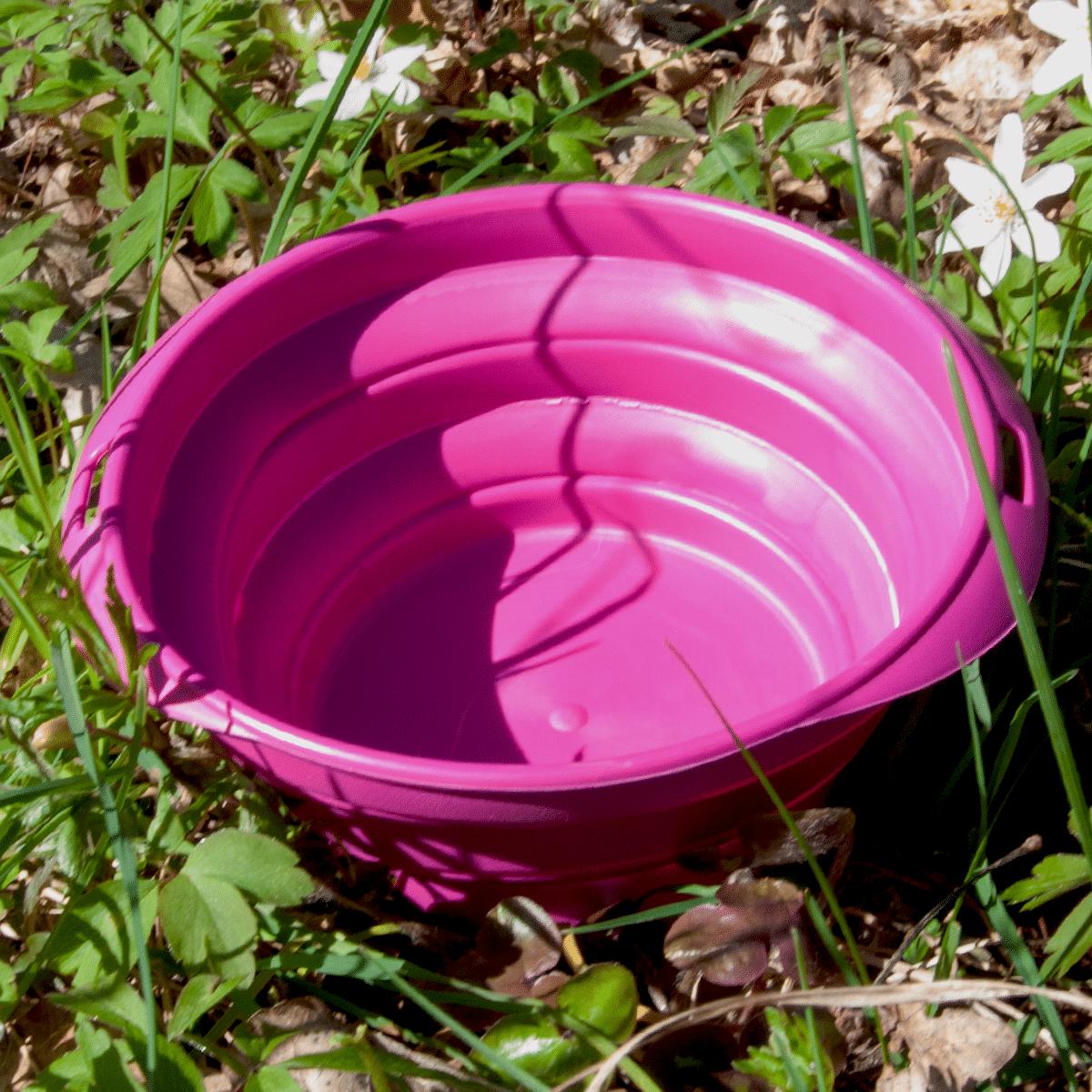 Hopfällbar vattenskål till hunden - perfekt till utflykten