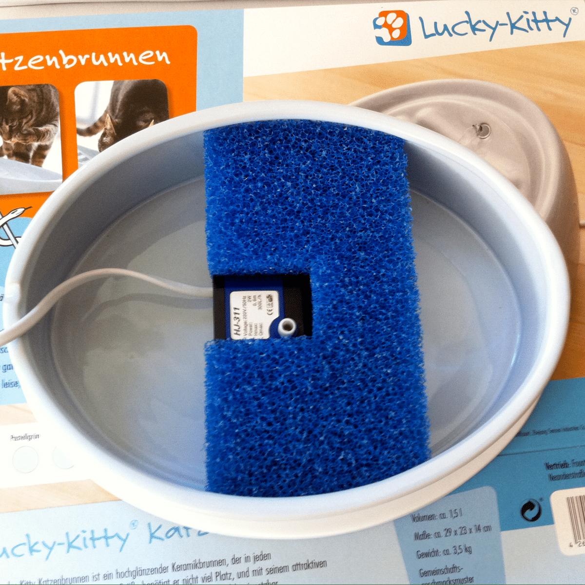 Filter till Lucky Kittys vattenfontän