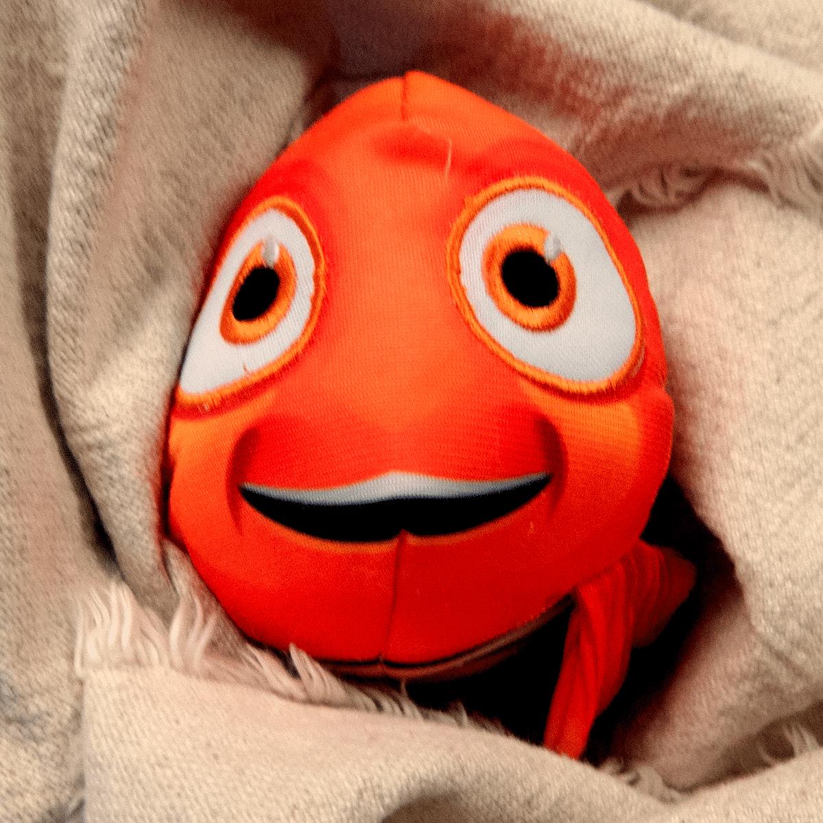 Hitta Nemo - rolig hundleksak i tyg