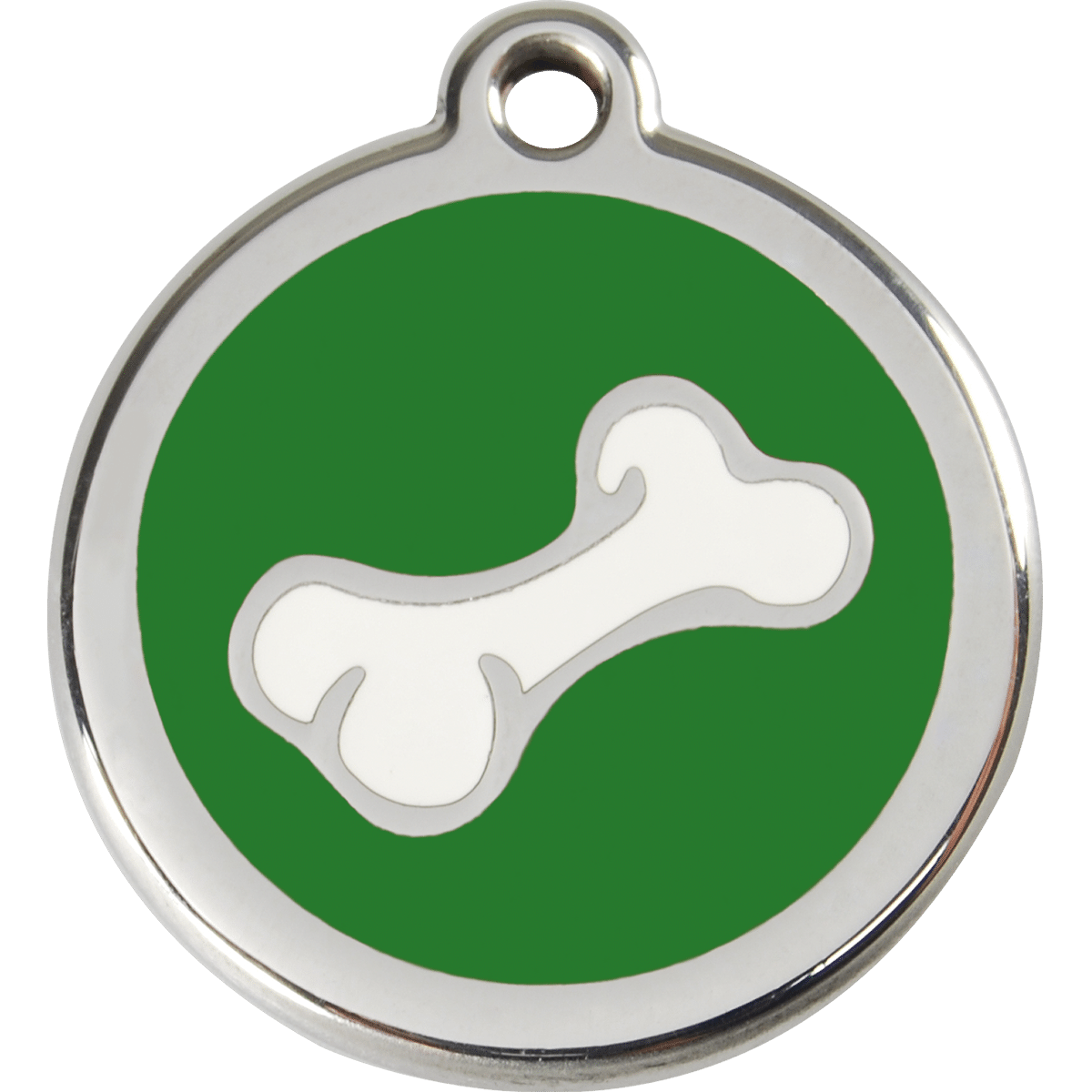 Hållbar och kraftig bricka med telefonnummer till hunden