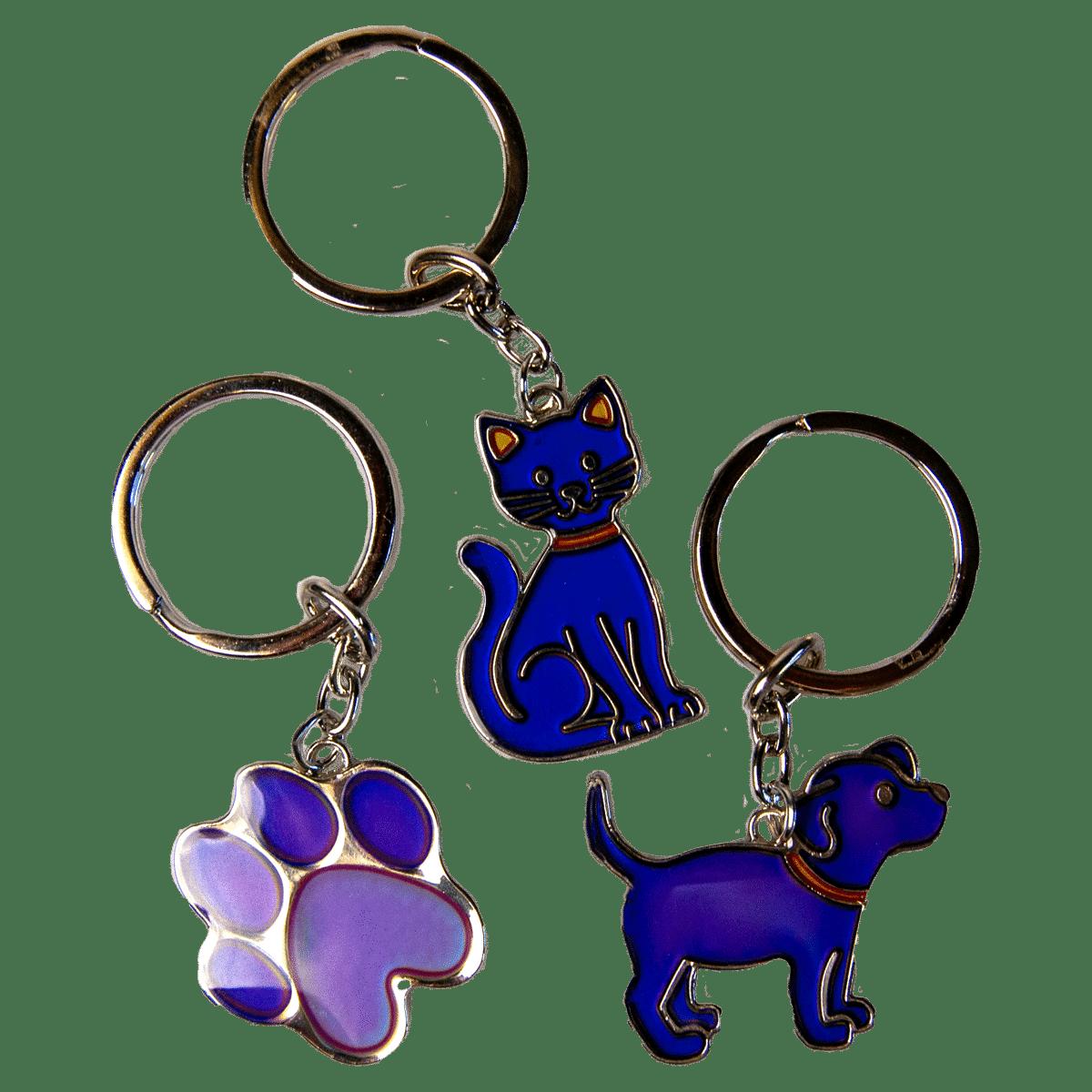 Gulliga nyckelringar med djur som visar dina känslor