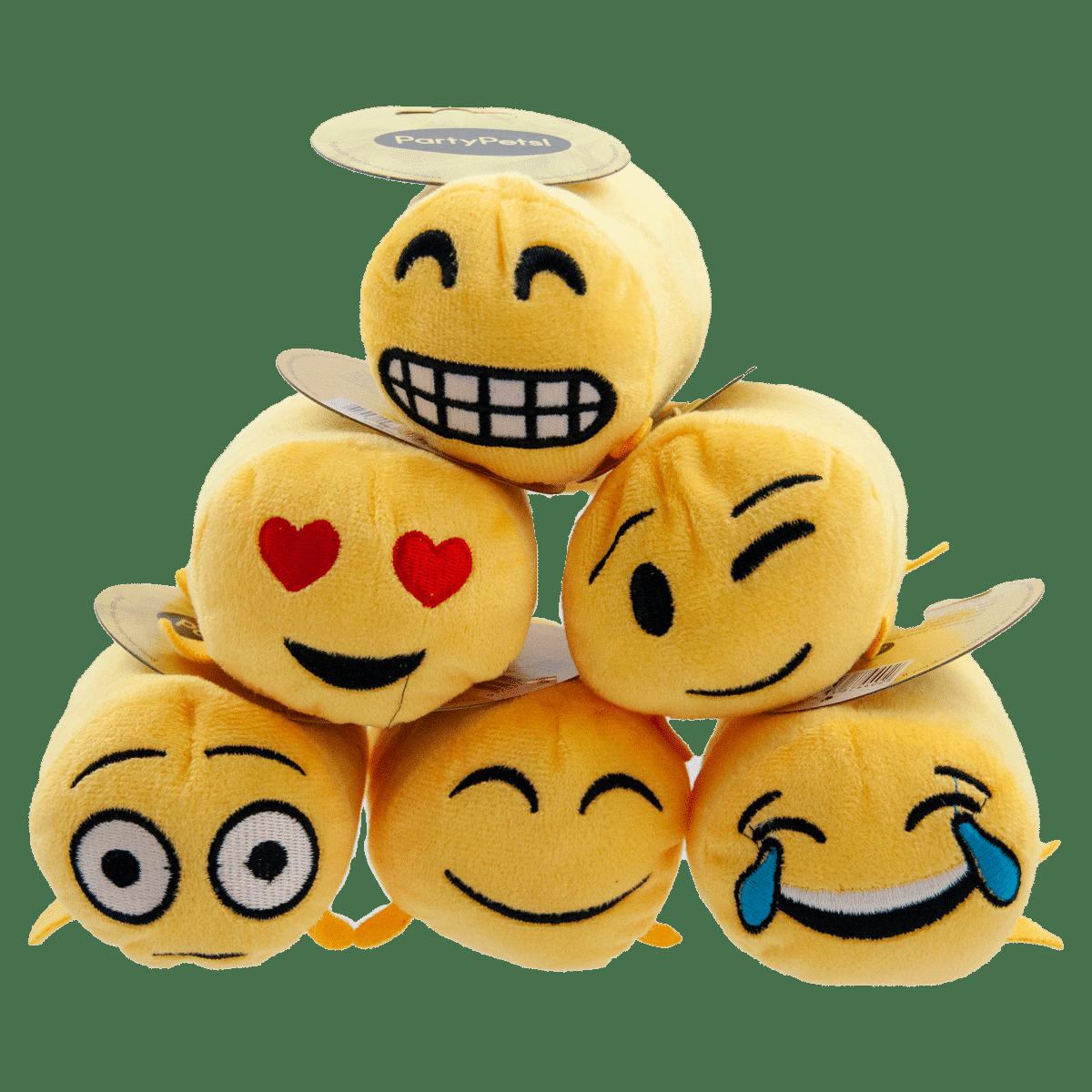 Roliga smileys- hundleksaker i mjuk plysch
