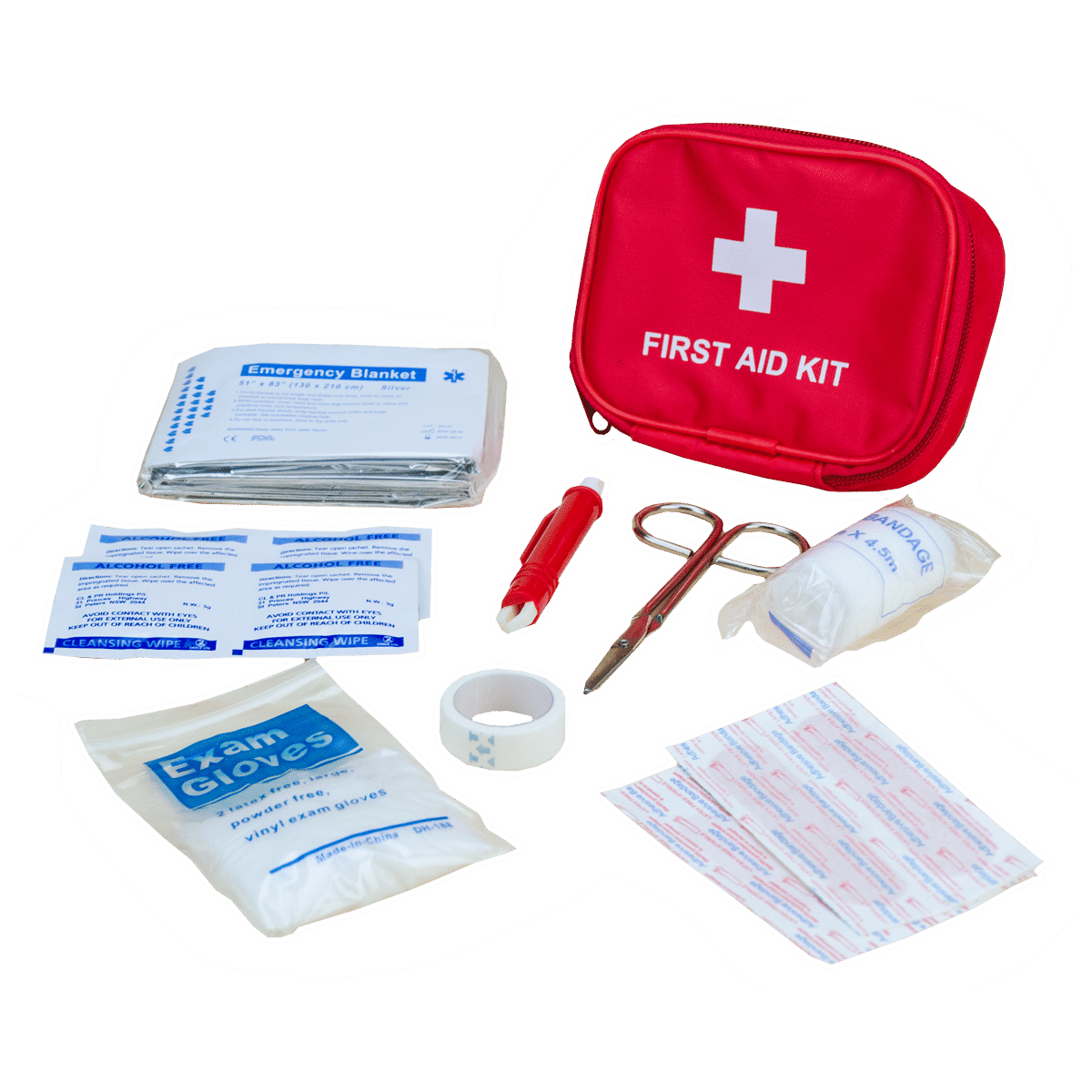 Första hjälpen-kit till hund