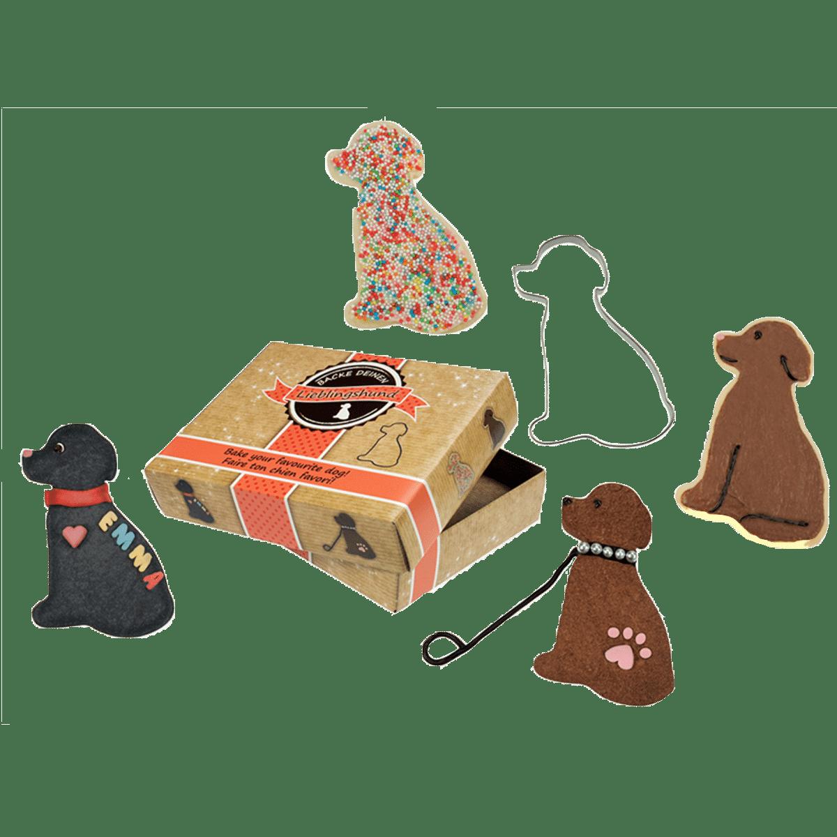 Present till hundägaren- kakmått sittande hund