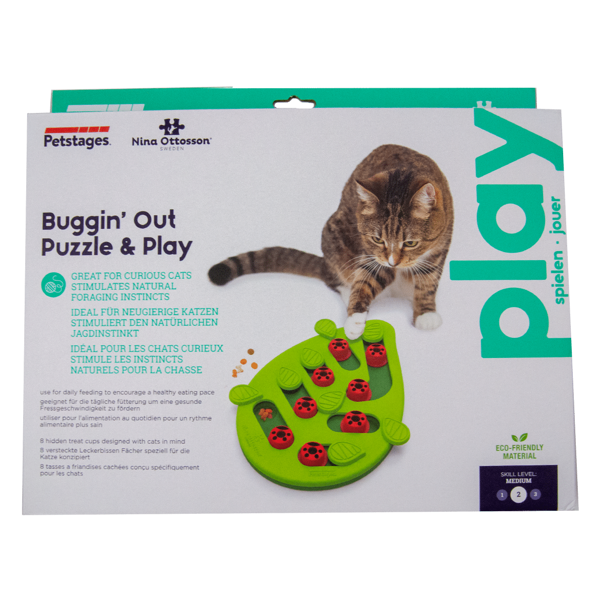 Spännande spel för katten- Buggin out