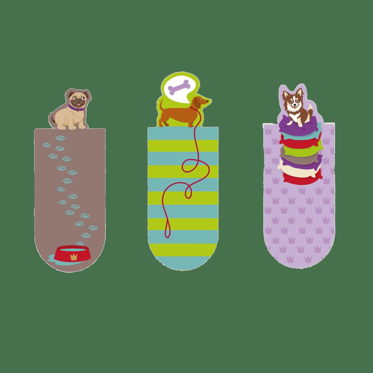 Fina magnetbokmärken med hundmotiv