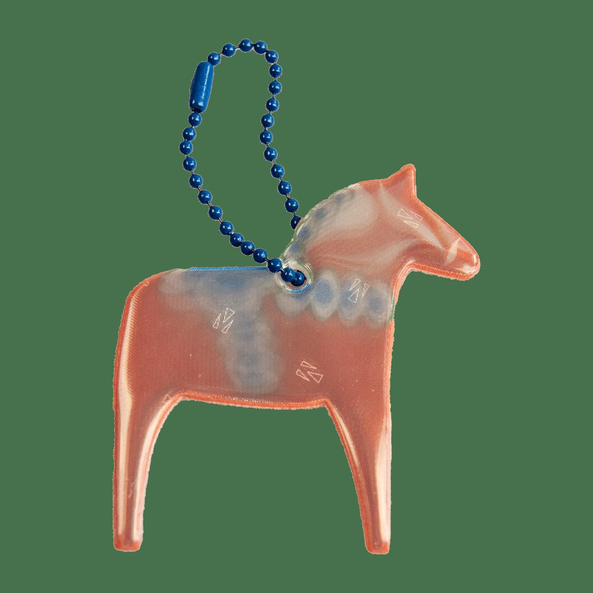 Reflex i form av en Dalahäst