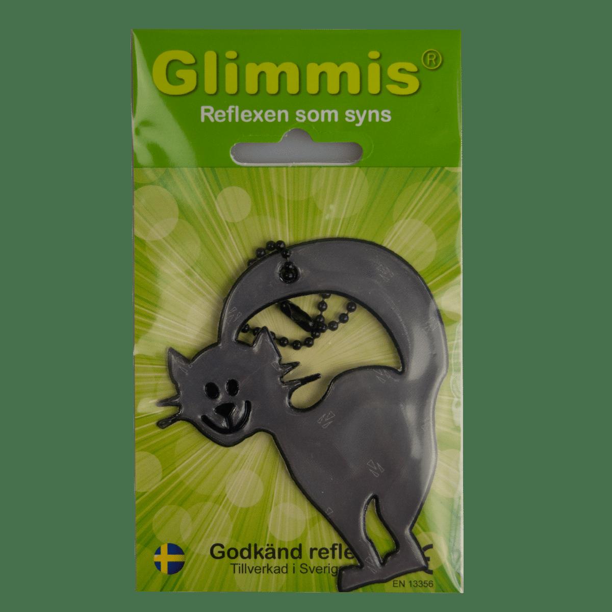 Glimmis reflex med en glad katt