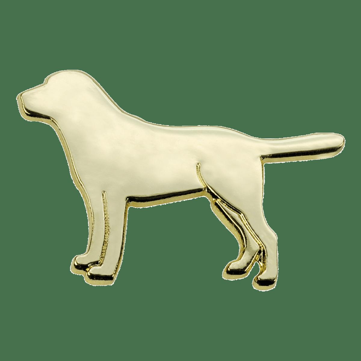 Pin med retriever- guldfärgad
