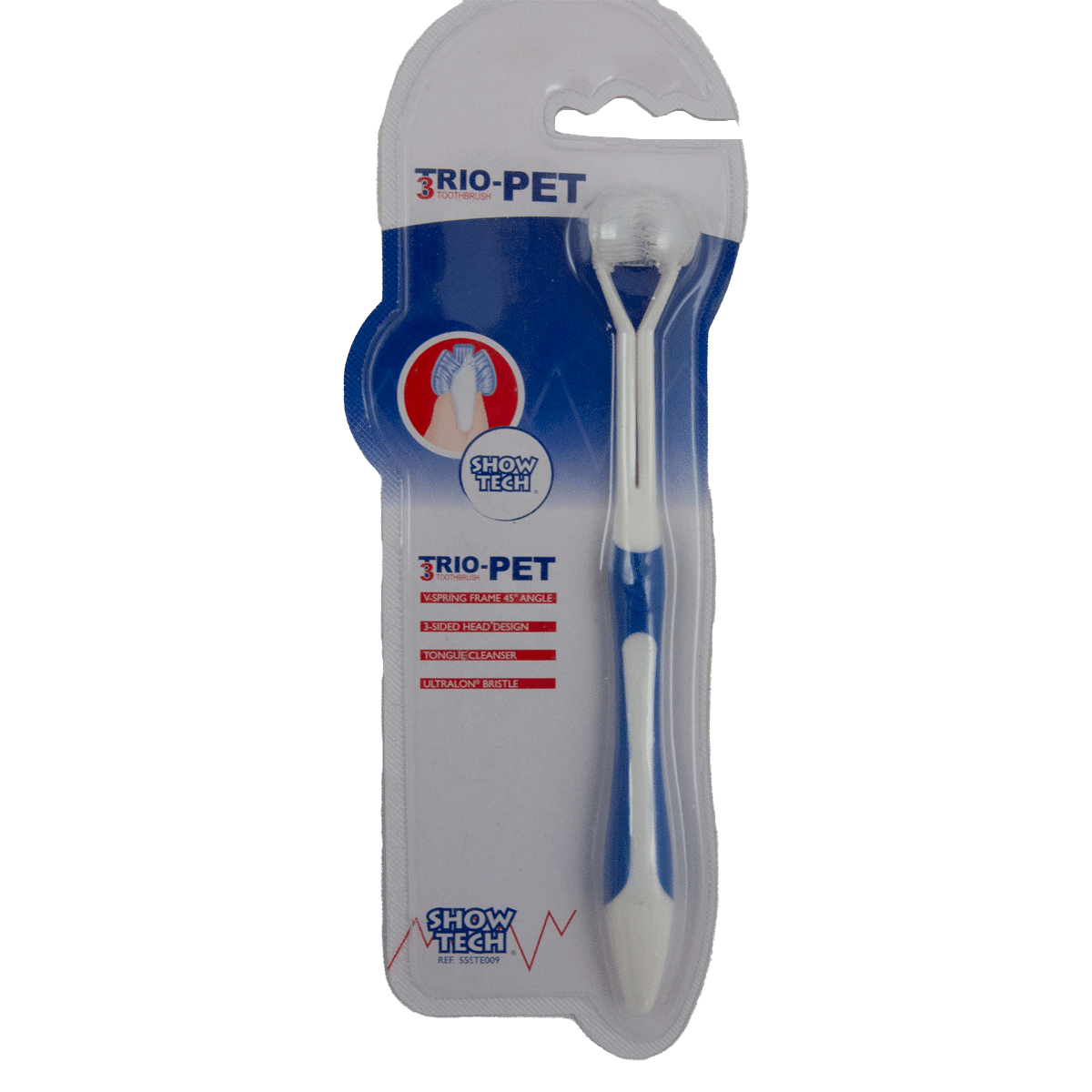 Tandborste med trippelborst till hund