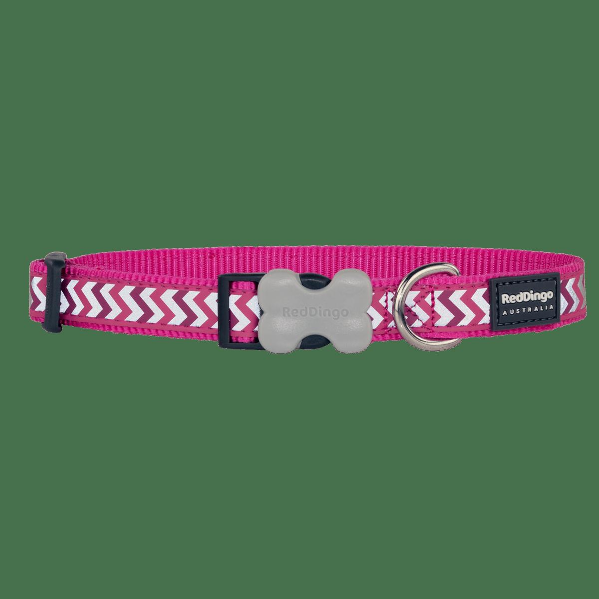 Läckert hundhalsband i chockrosa